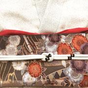 宝尽くし江戸小紋+四季折々の文様刺繍袋帯