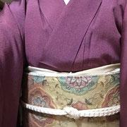 宝尽くし江戸小紋+螺鈿袋帯