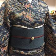 母のウール着物+ウールの八寸帯