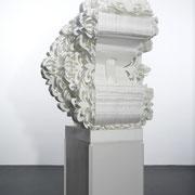 die Umworbene, 2008, Styropor, MDF, UV-Acryllack, 200 x 85 x 110 cm