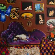 Die Fälle, Acrylic on canvas, 175x185 cm, 2018