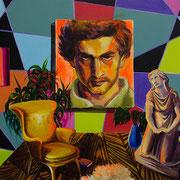 Zwei Kräfte, Acrylic on canvas, 60x80 cm, 2016