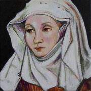 Fräulein Trost, Acrylic on canvas, 20x20cm, 2017