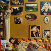 Die Wege, Acrylic on canvas, 175x185 cm, 2018