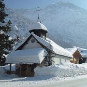 Stiller Ort im Wintersturm