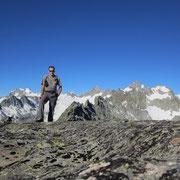 Auf dem Grat zwischen den beiden Gipfeln