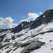 Blick zurück dem Grat entlang zum Juchlistock