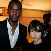 Alan Badaoui-Couble et Black M  dans la loge du groupe Sexion d'Assaut , lors de la soirée des NRJ Music Awards à Cannes  © Anik COUBLE