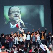 Victoire de François Hollande et fête du changement à Lyon / Photo : Anik Couble