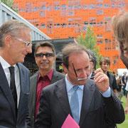 François Hollande et André Vallini  © Anik COUBLE