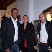 Les sportifs venus apporter leur soutien à Thierry Braillard  © Anik COUBLE