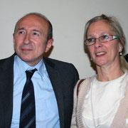 Gérard COLLOMB, Sénateur-Maire de Lyon et Joëlle SECHAUD  / Photo : Anik Couble