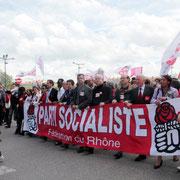 Banderole du Parti Socialiste / Photo : Anik Couble