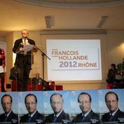Jacky DARNE, 1er secrétaire fédéral PS - Rhône  / Photo : Anik Couble