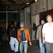 Jamel Debbouze, dans le Hangar de l'Institut Lumière / Photo : Anik Couble