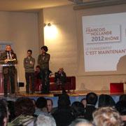 Rassemblement départemental  de soutien à François Hollande à Lyon / Photo : Anik Couble