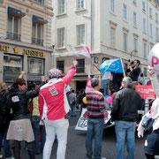 Le parti socialiste au coeur du défilé / Photo : Anik Couble