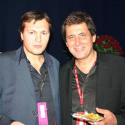 Max Guazzini (à gauche) à l'After des NRJ Music Awards 2005 © Anik COUBLE