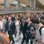 François Hollande entouré de Sylvie Gillet De Torey, Gérard Collomb, Jean Paul Bret et Jean Besson © Anik COUBLE