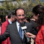 François Hollande à Vaulx en Velin © Anik COUBLE