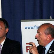 Thierry Braillard et Gérard Collomb © Anik COUBLE