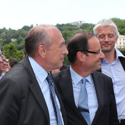 François Hollande et Gérard Collomb © Anik COUBLE