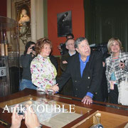 Jerry Lewis  visitant le Musée Lumière / Photo : Anik Couble