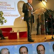 Gérard COLLOMB, Sénateur-Maire de Lyon, représentant particuliler de François Hollande / Photo : Anik Couble
