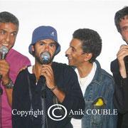 Samy Naceri, Jamel, Debbouze,  Rachid Bouchareb et  Bernard Blancan / Photo : Anik Couble