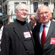 Jacky DARNE, 1er secrétaire fédéral PS - Rhône et Charles FITERMAN / Photo : Anik Couble