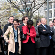 Najat VALLAUD - BELKACEM, Thierry BRAILLARD, Hélène GEOFFROY, Pierre-Alain MUET, Gérard COLLOMB et Renaud GAUQUELIN  © Anik COUBLE