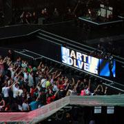Martin Solveig en 1ère partie et Will I am, en invité surprise, lors du concert de Madonna (MDNA Tour 2012), au Stade de France à Paris © Anik COUBLE