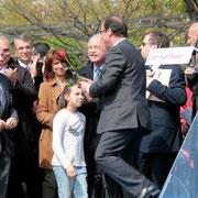François Hollande, Jean-Louis TOURAINE, Farida BOUDAOUD et Jean-Jack QUEYRANNE © Anik COUBLE