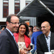 "François Hollande aux ""Docks 40""  © Anik COUBLE"