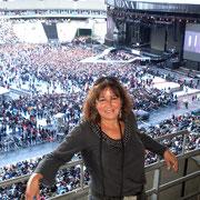 Anik Couble, lors du concert de Madonna (MDNA Tour 2012), au Stade de France à Paris © Anik COUBLE