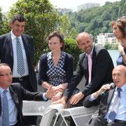 """Conférence de Presse de François Hollande, aux """"Docks 40"""" à la Confluence  © Anik COUBLE"""