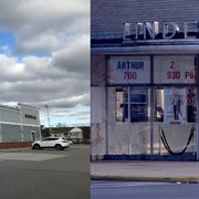 『アンビリーバブル・トゥルース』に出てくる町の映画館は、ドラッグストアのCVSになってしまっていた。建物の形や壁の素材に微妙に当時の名残がある。