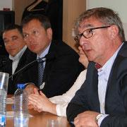 Les représentants des membres fondateurs de la Breizh RFID Vallée : René Guichard (Iris RFID), Serge Lardy (Vehco), Céline Bouder (Scarmor), Patrick Lahaye (Transports Lahaye)