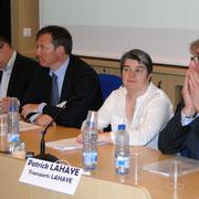 Les représentants des membres fondateurs de la Breizh RFID Vallée : René Guichard (Iris RFID), Serge Lardy (Vehco), Céline Bouder (Logisticienne Scarmor), Patrick Lahaye (Transports Lahaye)