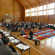 団地の世帯数の過半数を超え、総会が成立しました。