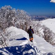 竜王山への分岐付近