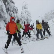 22日 熊の湯~横手山スキー場への林間コース