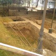 Reperti archeologici all'interno della Villa comunale, Foggia 2013