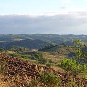 Wolken, Licht und Schatten über der Serra