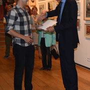 Will Randle receives the Royal Air Force Museum prize