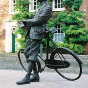 Elgar and bike