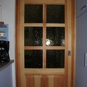 Porta a vetri  in legno di pino massiccio  scorrevole a scrigno