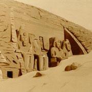 Abu Simbel - Oleo 110x150 (1992) - Daniel Dankh
