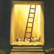 Penetrando el misterio - Oleo 60x80 (2000) - Daniel Dankh