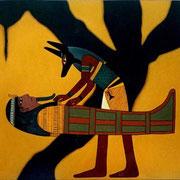 Un abrazo paternal - Oleo 130x150 (1997) - Daniel Dankh